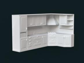 1:39 Scale Model - Kitchen Set 02 in White Natural Versatile Plastic