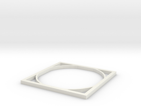 Doubly square thingy in White Natural Versatile Plastic