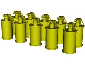 1/16 scale M-18 smoke grenades x 10 in Smooth Fine Detail Plastic