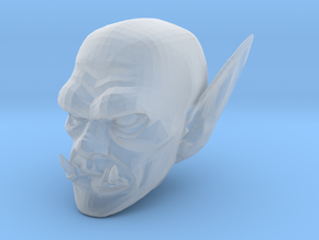 orc head 1 in Smooth Fine Detail Plastic