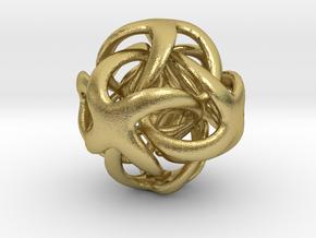 OctaDigit - 22mm in Natural Brass