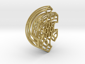 Wireframe Astrolabicon // Side B in Natural Brass