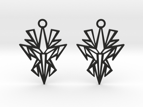 Dark symmetry earrings in Black Natural Versatile Plastic: Small