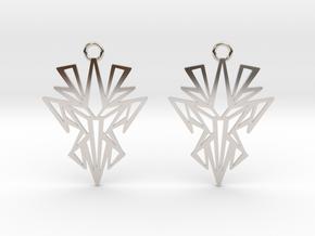 Dark symmetry earrings in Rhodium Plated Brass: Small