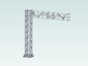 Signal Frame Cantilever block NO Signals in White Natural Versatile Plastic
