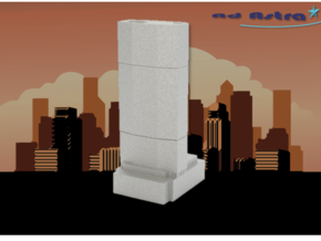 The MetLife Building - New York (1:4000) in White Natural Versatile Plastic