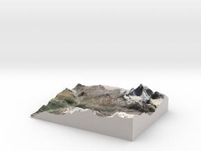 "Matterhorn / Monte Cervino Map: 8.5""x11"" (21x27 cm in Matte Full Color Sandstone"