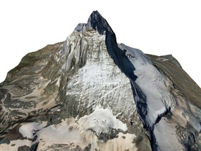 "Matterhorn / Monte Cervino Map: 6"" (15.2 cm) in Full Color Sandstone"
