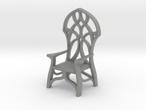 Elven Chair for 1:24 scale settings in Gray Professional Plastic