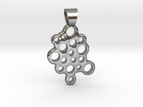 Bubbles [pendant] in Polished Silver