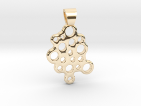 Bubbles [pendant] in 14k Gold Plated Brass