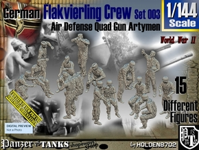 1/144 German Flak Crew Set 003 in Smooth Fine Detail Plastic