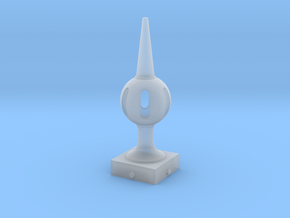 Signal Semaphore Finial (Pierced Ball) 1:19 scale in Smooth Fine Detail Plastic