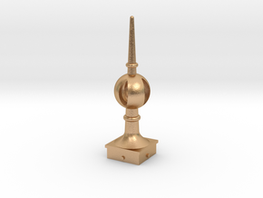Signal Semaphore Finial (Open Ball) 1:19 scale in Natural Bronze