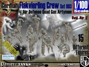 1/100 German Flak Crew Set 003 in Smooth Fine Detail Plastic