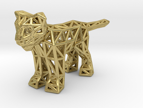 Lion (young) in Natural Brass