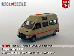Renault Trafic T1000D Camper Van (British N 1:148) in Smooth Fine Detail Plastic
