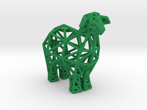Sheep in Green Processed Versatile Plastic