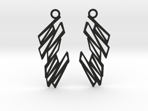 Zigzag earrings in Black Natural Versatile Plastic: Small