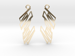 Zigzag earrings in 14K Yellow Gold: Small