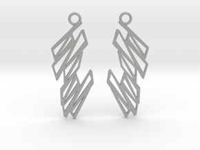 Zigzag earrings in Aluminum: Small