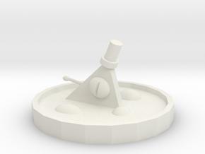 Bill Cipher Statue Miniature in White Natural Versatile Plastic: Small