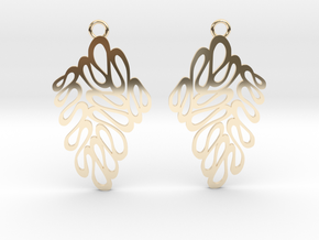 Wave earrings in 14K Yellow Gold: Extra Small