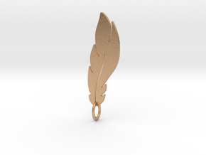 feather pendant in Natural Bronze