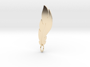feather pendant in 14k Gold Plated Brass