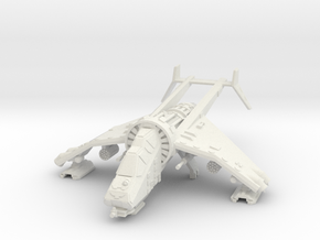 15mm Buzzard Gunship (Autocannon, Rocket Pod) in White Natural Versatile Plastic