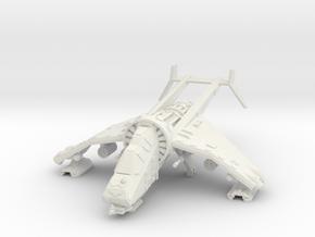 15mm Buzzard Gunship (Autocannon, Rocket Pod) in White Natural Versatile Plastic