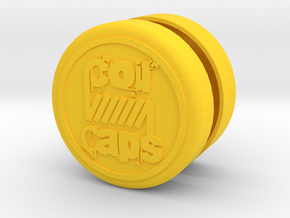 PRNT3D COIL CAPS in Yellow Processed Versatile Plastic