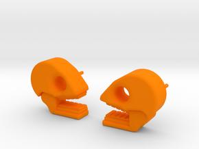 Mictlan earrings in Orange Processed Versatile Plastic