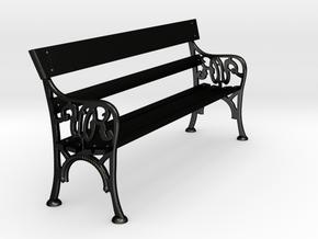 Victorian Railways Station Bench Seat 1:19 Scale in Matte Black Steel