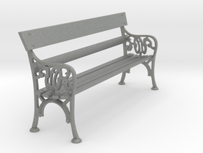 Victorian Railways Station Bench Seat 1:19 Scale in Gray PA12
