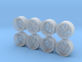 Longchamp XR4 10x5mm 1/43 Scale Wheels in Smoothest Fine Detail Plastic