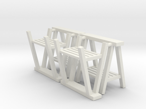 Trestle 01. 1:24  Scale in White Natural Versatile Plastic