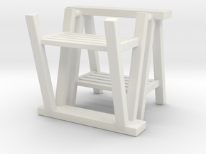 Trestle 01. 1:12  Scale in White Natural Versatile Plastic