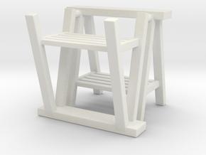 Trestle 01. 1:12  Scale in White Natural Versatile Plastic