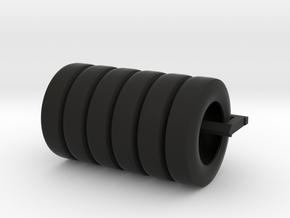 Tugboat Bumper Tires Set005 in Black Natural Versatile Plastic