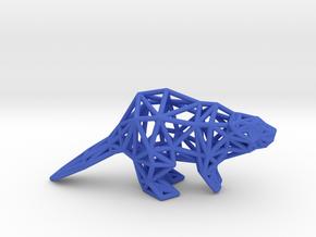 American Beaver (adult) in Blue Processed Versatile Plastic