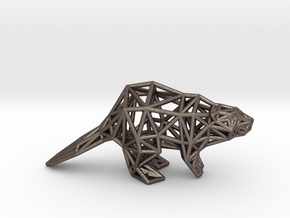 American Beaver (adult) in Polished Bronzed-Silver Steel