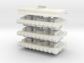 Hydra x6 Reversible Baseplate Safety Razor Head in White Natural Versatile Plastic