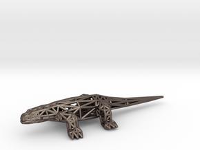 Komodo Dragon (adult) in Polished Bronzed-Silver Steel