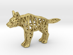 Striped Hyena (adult) in Natural Brass