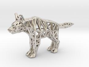 Striped Hyena (adult) in Platinum