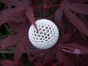 Dual Geodesic Icosahedron 11 in White Strong & Flexible