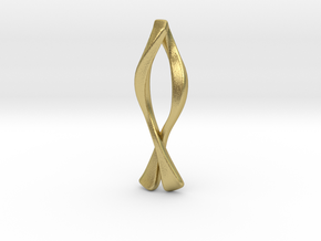 Ichthys Pendant - Christian Jewelry in Natural Brass