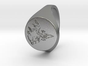 Lion Heart in Natural Silver: Medium