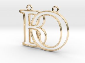 Initials B&O monogram  in 14k Gold Plated Brass